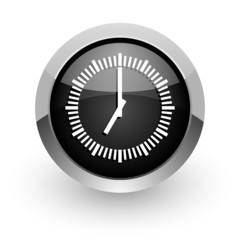 time black chrome glossy web icon
