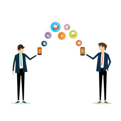E- business people  transaction vector concept
