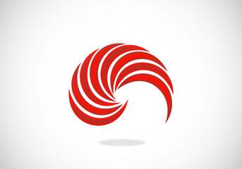 shell abstract circle vector logo