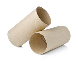 Paper roll of bathroom isolated on white background