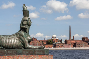 Sphinx on Robespierre. St. Petersburg.