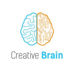 Brain  vector logo design template