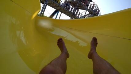 Water slide in Aqua park