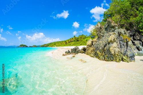Foto op Plexiglas Caraïben Beautiful Caribbean beach