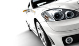 Fototapety White car