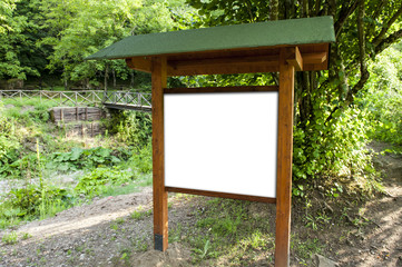 Copyspace in the wood