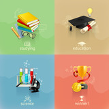 Fototapety Education concepts, vector set