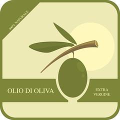 Etichetta per l'olio di oliva