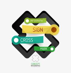 Vector cross shape infographic concept