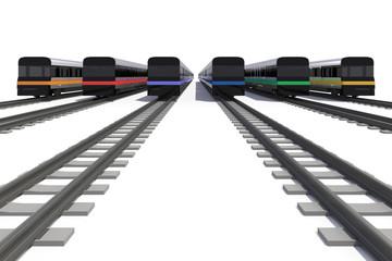 6色の電車