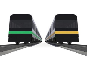 電車の正面からのローアングル