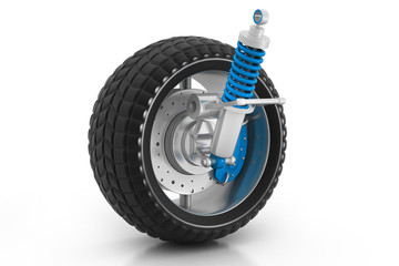 3d Wheel, shock absorber and brake pads