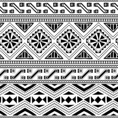 Ethnic ornamental textile seamless pattern