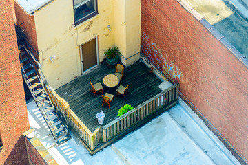 rooftop seating in downtown Philadelphia