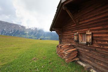 baita sull' Alpe di Siusi