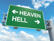 canvas print picture - heaven hell