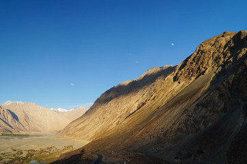 Beautiful landscape of Nubra Valley in Ladakh, India