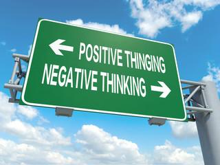 positive thinking negative thinking