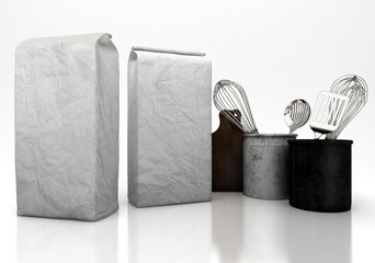 Sacco di farina, packaging, mockup