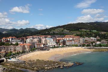Beach in Castro Urdiales, Cantabria, Spain