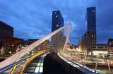 Pedestrian bridge in the city of Bilbao, Spain - 68352210