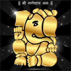 Indian god ganesha, Ganesh idol- vector eps10