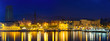 Barcelona from Port Vell in night