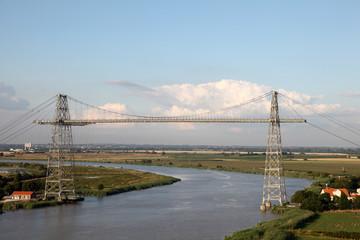 Bridge crossing Charente in Charente Maritime, France