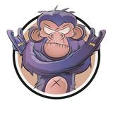affe icon schimpanse logo
