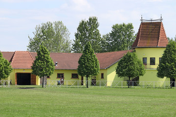 ranch with horse stable