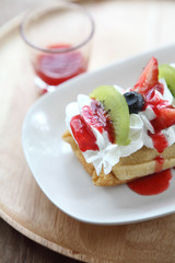 crape cake with fruit