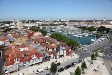 Aerial view of La Rochelle, Charente Maritime, France
