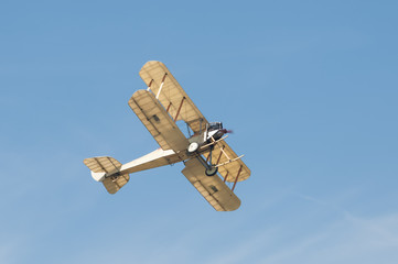 vintage linen covered biplane circa WW1