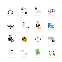 Business management icon set.