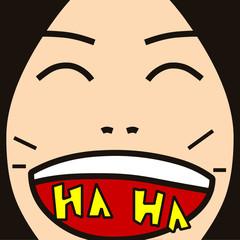 face cartoon expression 03 laugh