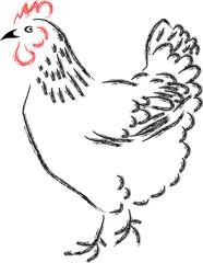 stylized chicken