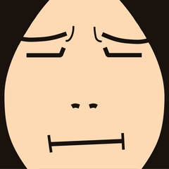 face cartoon expression 14 regret