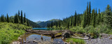 Fototapety mountain lake panorama