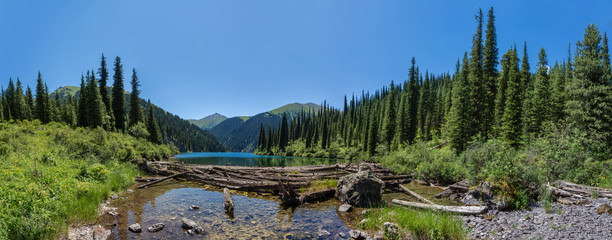 mountain lake panorama
