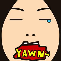 face cartoon expression 28 yawn face