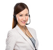 Female customer services operator