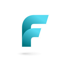 Letter F logo icon design template elements.