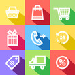 Shopping Color Icons