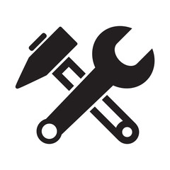 Wrench And Hammer Crossed