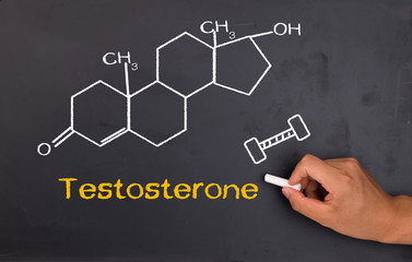 Testosterone chemical structure formula