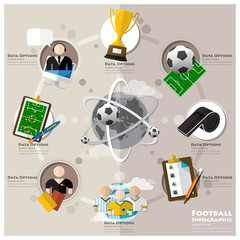 Football Tournament And Sport Flat Icon Infographic