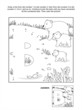 Dot-to-dot and coloring page - letter B, bears