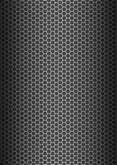 Metal texture honeycomb background