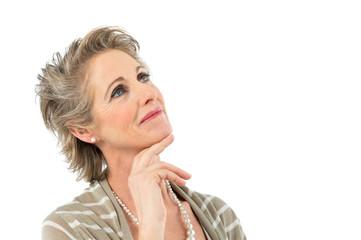 Mature Woman Contemplating