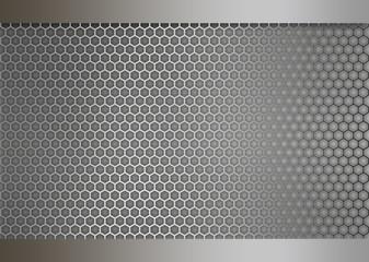 Metal texture honeycomb background